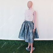 Одежда handmade. Livemaster - original item Set fluffy skirt snow white blouse with bow.. Handmade.