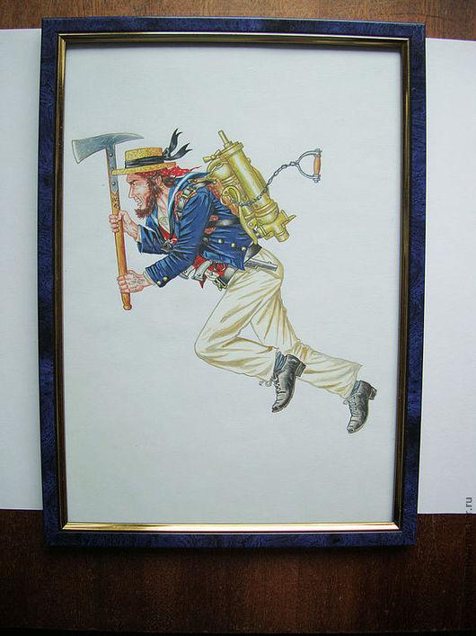 """Люди, ручной работы. Ярмарка Мастеров - ручная работа. Купить Картина """"ГЕРОИ ПАРОВОГО МИРА"""" 01. Handmade. Стимпанк, краски"""