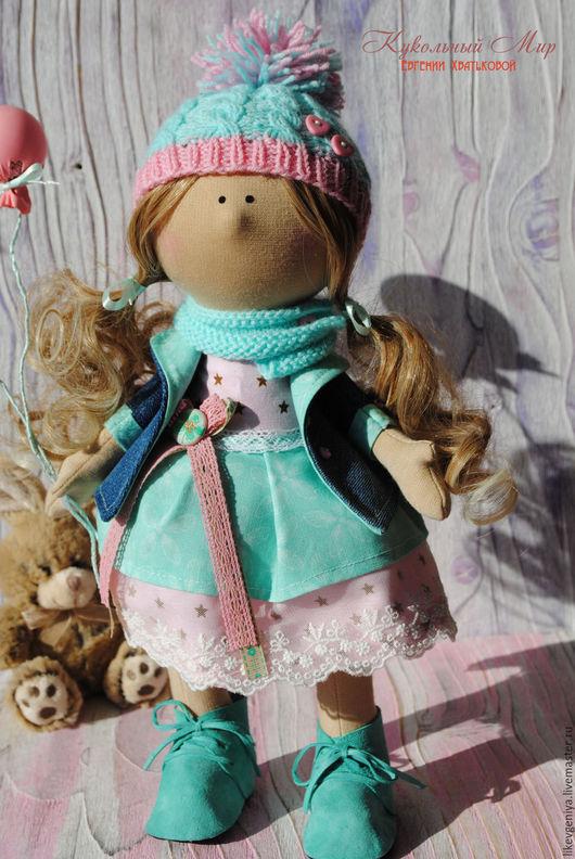 """Коллекционные куклы ручной работы. Ярмарка Мастеров - ручная работа. Купить Текстильная кукла """"Зефирка"""". Handmade. Комбинированный, кукла снежка"""