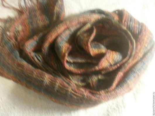 Шарфы и шарфики ручной работы. Ярмарка Мастеров - ручная работа. Купить Шарф женский. Handmade. Разноцветный, шарфик, шерсть мериноса