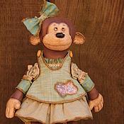 Куклы и игрушки ручной работы. Ярмарка Мастеров - ручная работа Обезьянка со слоником. Handmade.
