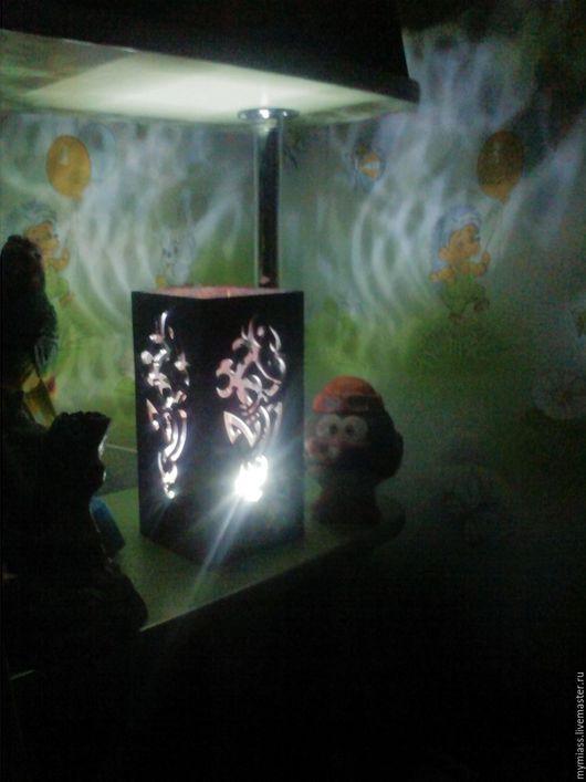 Освещение ручной работы. Ярмарка Мастеров - ручная работа. Купить Японский светильник. Handmade. Светильник, фанера 4мм