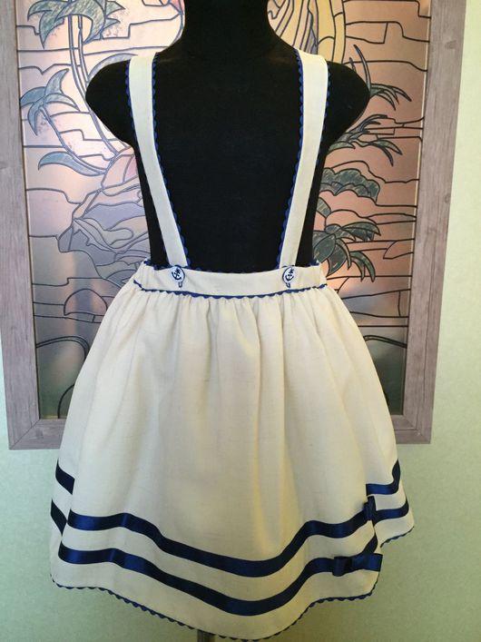 Одежда для девочек, ручной работы. Ярмарка Мастеров - ручная работа. Купить Юбочка для юной морячки. Handmade. Юбка, шерсть 100%