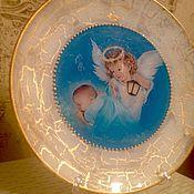 """Декоративная тарелка """"Ангел-хранитель"""""""