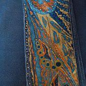 Одежда ручной работы. Ярмарка Мастеров - ручная работа Джинсы с росписью. Handmade.