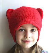 """Работы для детей, ручной работы. Ярмарка Мастеров - ручная работа Шапочка """"Кошка"""". Handmade."""