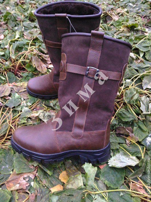 Обувь ручной работы. Ярмарка Мастеров - ручная работа. Купить Монголки мужские С-230. Handmade. Коричневый, зимняя обувь