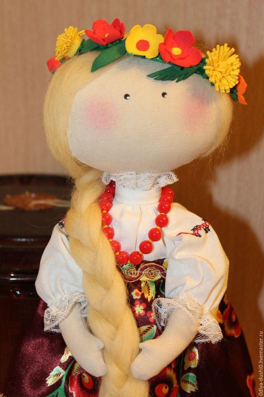 Куклы тыквоголовки ручной работы. Ярмарка Мастеров - ручная работа. Купить Маруся. Handmade. Комбинированный, лето, венок из цветов