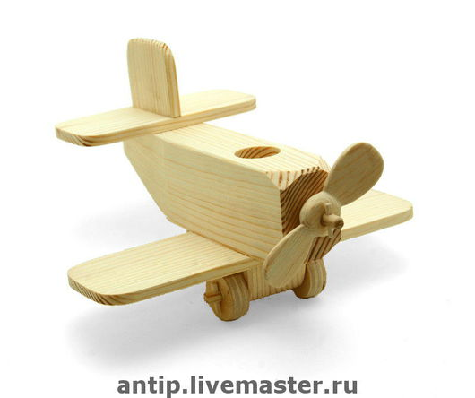 """Техника ручной работы. Ярмарка Мастеров - ручная работа. Купить """"Самолёт""""- деревянная игрушка.. Handmade. Дерево, авторская игрушка, самолет"""