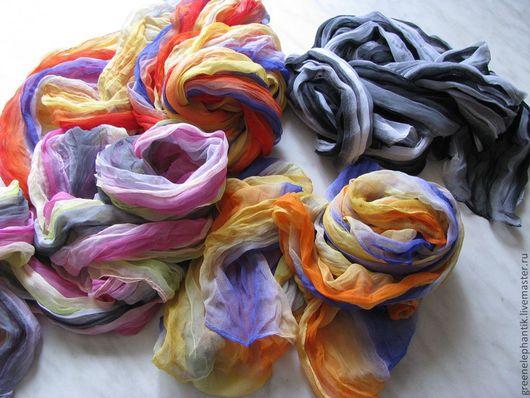 Шифоновый шарфики жатые. Расцветки в ассортименте