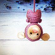 Куклы и игрушки handmade. Livemaster - original item Lilac knitted mouse Peak. Handmade.
