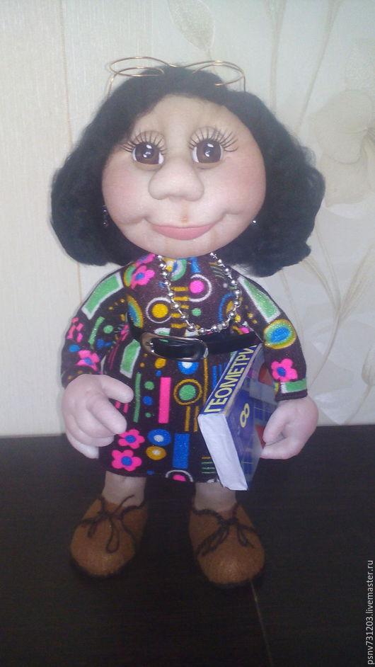 Коллекционные куклы ручной работы. Ярмарка Мастеров - ручная работа. Купить Учительница математики (кукла по фото). Handmade. Комбинированный, текстиль