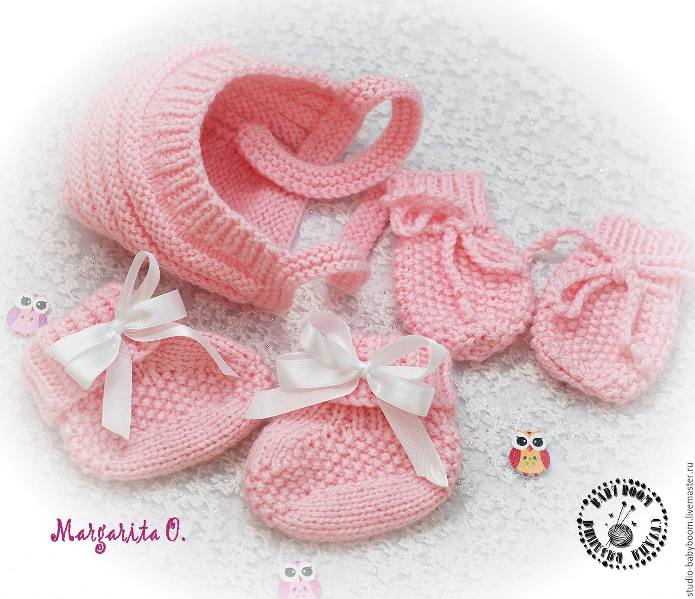 Вязание царапок для новорожденных 174