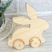 Материалы для творчества handmade. Livemaster - original item Wooden rocking horse moose wooden unicorn duck rabbit on wheels. Handmade.