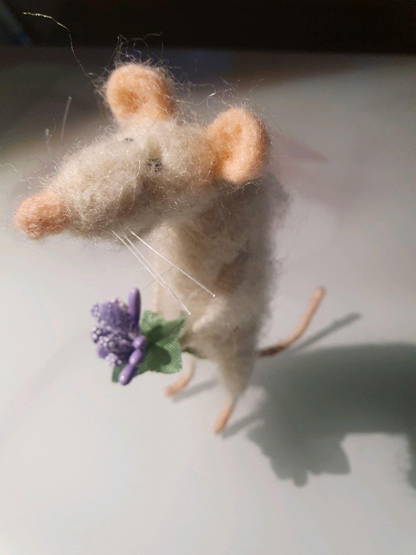Игрушки из войлока. Крыска, Войлочная игрушка, Москва,  Фото №1