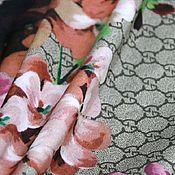 Ткани ручной работы. Ярмарка Мастеров - ручная работа Ткань шелковый сатин Gucci новинка. Handmade.