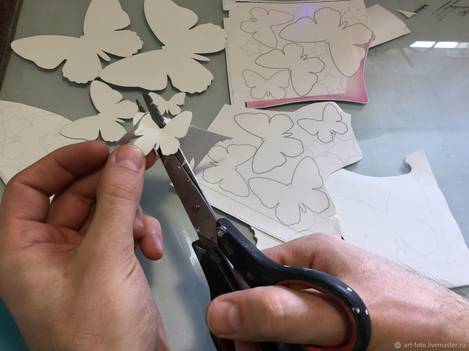 billet for cutting-luminous Butterfly stickers, Interior elements, Sterlitamak,  Фото №1