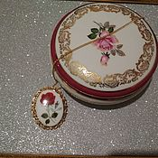 Винтаж handmade. Livemaster - original item Vintage pendants: porcelain brooch pendant. Handmade.