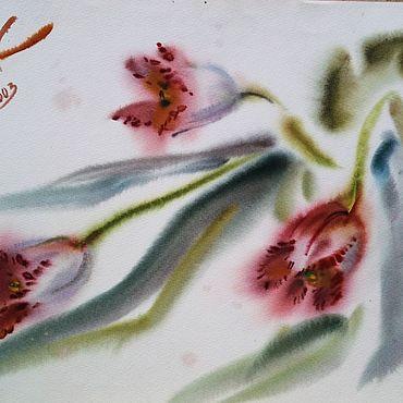 Картины и панно ручной работы. Ярмарка Мастеров - ручная работа Картина Розовые тюльпаны. Handmade.