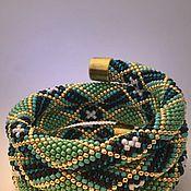 """Украшения ручной работы. Ярмарка Мастеров - ручная работа Браслет """"Зелёный"""". Handmade."""