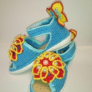 Обувь ручной работы. Ярмарка Мастеров - ручная работа Сандалики.ЛЕТНИЕ НАСТРОЕНИЕ. Handmade.