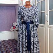 Одежда ручной работы. Ярмарка Мастеров - ручная работа Трикотажное платье миди Кристина. Handmade.