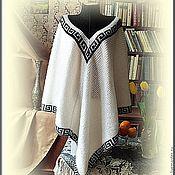 """Одежда ручной работы. Ярмарка Мастеров - ручная работа вязаное пончо """"Олимпия"""". Handmade."""