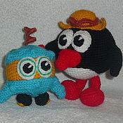 Куклы и игрушки ручной работы. Ярмарка Мастеров - ручная работа Смешарики Пин и его любимое творение БиБи. Handmade.