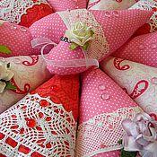 Куклы и игрушки handmade. Livemaster - original item Hearts on Valentine`s day.Valentine. Handmade.
