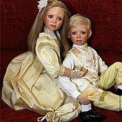 Винтажные куклы ручной работы. Ярмарка Мастеров - ручная работа Прекрасная пара для гостиной, куклы. Handmade.