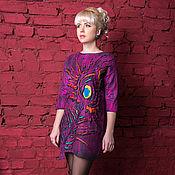 """Одежда ручной работы. Ярмарка Мастеров - ручная работа Валяное платье """"перо павлина"""". Handmade."""