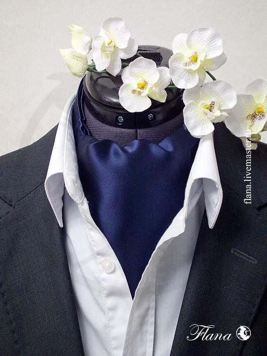 Шейный платок аскот (натуральный шелк) - прекрасный подарок  любимому человеку. Индивидуальный заказ, Флана