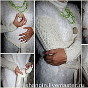 Одежда ручной работы. Ярмарка Мастеров - ручная работа Кардиган Лебединое озеро. Handmade.
