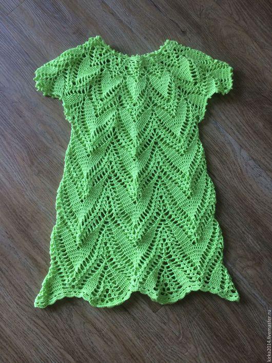 Одежда для девочек, ручной работы. Ярмарка Мастеров - ручная работа. Купить Зеленое платье. Handmade. Ярко-зелёный, лето