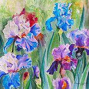 Картины и панно handmade. Livemaster - original item Painting watercolor Irises. Handmade.