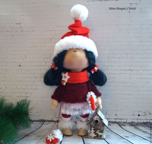 """Коллекционные куклы ручной работы. Ярмарка Мастеров - ручная работа. Купить Куколка """"Девочка Christi """". Handmade. Куколка, осень"""