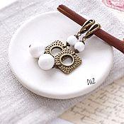 Украшения handmade. Livemaster - original item Earrings WHITE AGATE. Handmade.