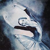 Картины и панно handmade. Livemaster - original item Watercolor Dancing ballerina. Handmade.