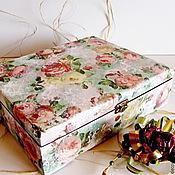 Для дома и интерьера ручной работы. Ярмарка Мастеров - ручная работа Шкатулка Розы Гретта. Handmade.