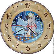 Для дома и интерьера handmade. Livemaster - original item Watch cedar Moomin. Handmade.