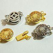 Материалы для творчества handmade. Livemaster - original item Locks of 2 colors on 2 threads, platinum, gilding(Yu.Korea). pc. Handmade.