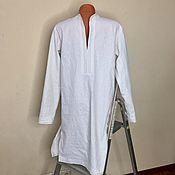 Одежда handmade. Livemaster - original item Shirt-men`s Kaftan / linen. Handmade.