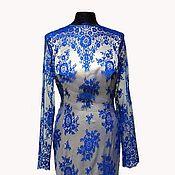 """Одежда ручной работы. Ярмарка Мастеров - ручная работа Вечернее платье """"Синий иней"""". Handmade."""