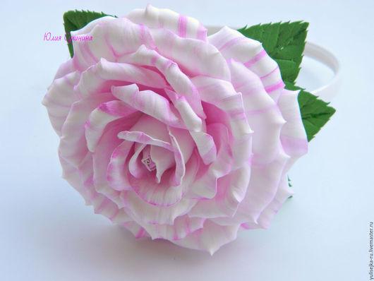 Диадемы, обручи ручной работы. Ярмарка Мастеров - ручная работа. Купить Ободок для волос с нежной розой. из фоамирана. Handmade.