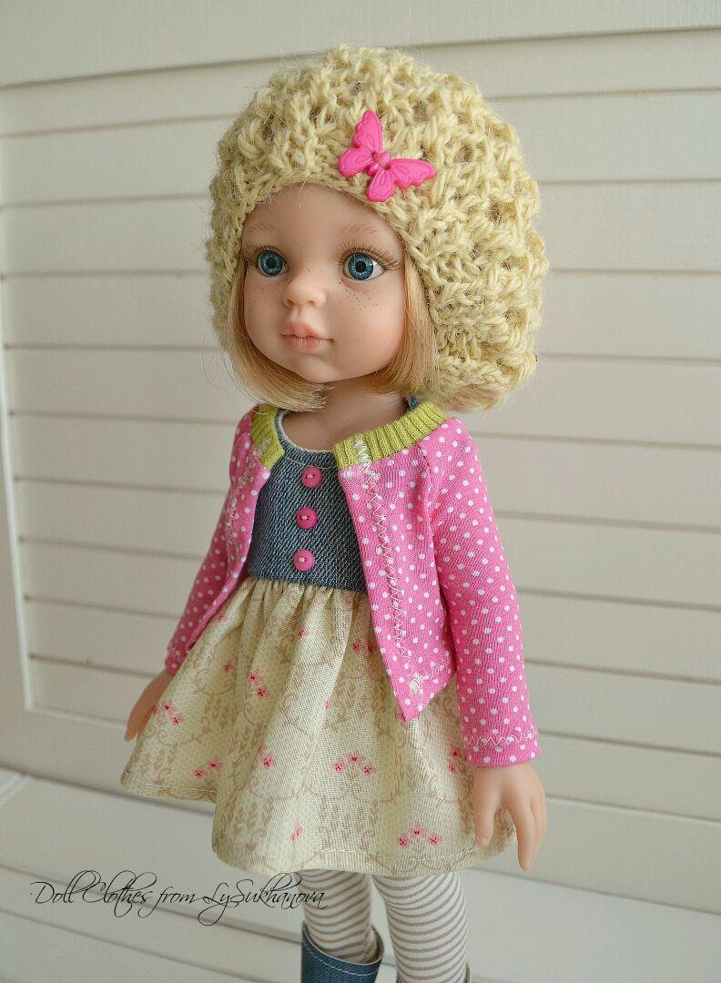 Одежда для кукол ручной работы. Ярмарка Мастеров - ручная работа. Купить Набор одежды для куколки 43. Handmade. Вяжу на заказ