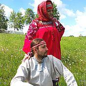 Русский стиль ручной работы. Ярмарка Мастеров - ручная работа Рубаха женская рязанская. Handmade.