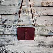 Classic Bag handmade. Livemaster - original item Bag small Burgundy leather cross body. Handmade.