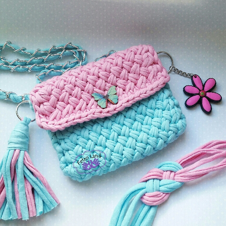 Как связать детскую сумочку спицами схемы