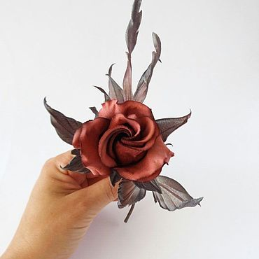 Flowers and floristry handmade. Livemaster - original item Rose boutonniere brooch