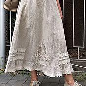 Одежда handmade. Livemaster - original item skirt linen. Long summer skirt.. Handmade.